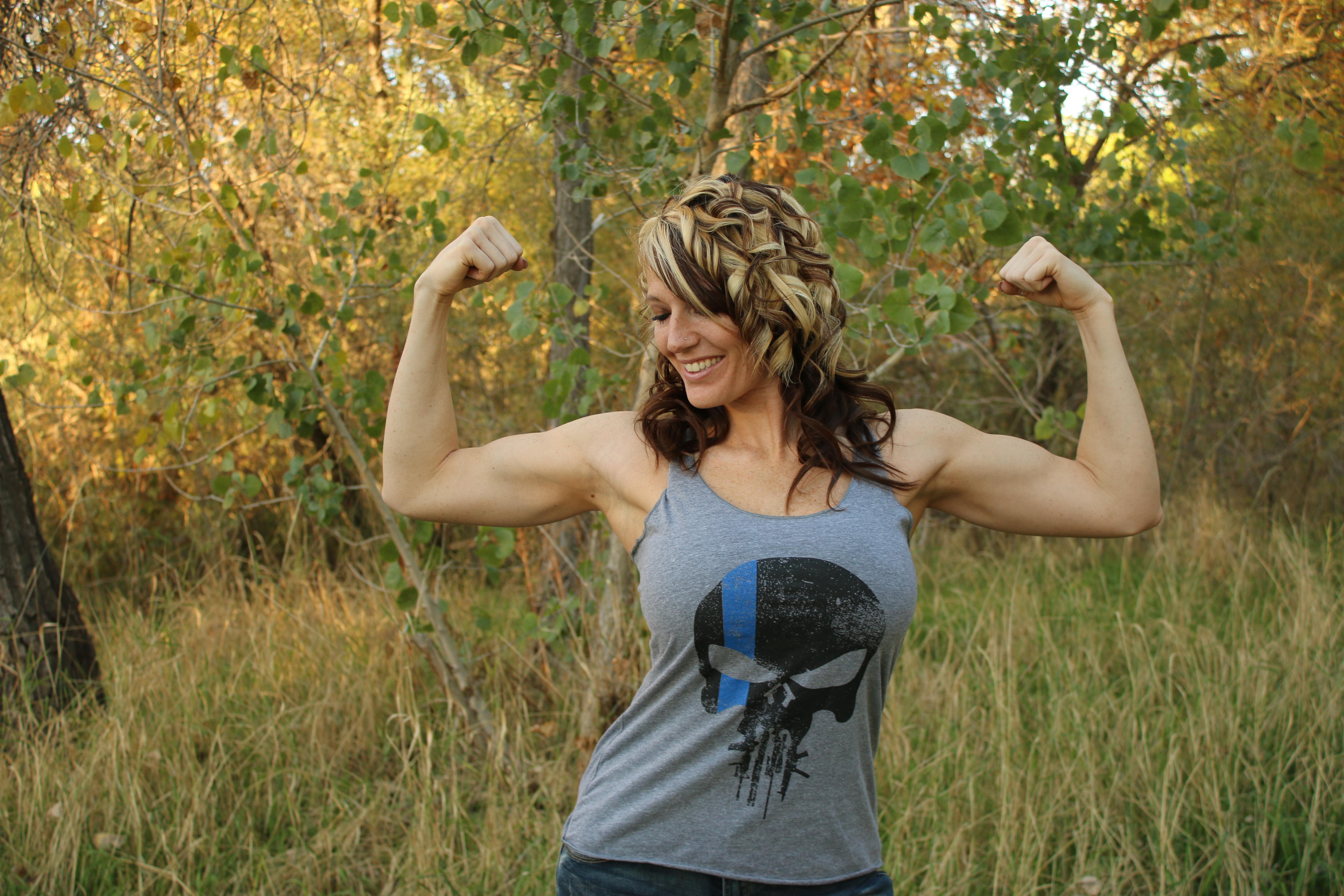 "4df97982664 Timete Nos ""Fear Us"" Women s Racerback Tank (Heather Gray ) – Threat ..."