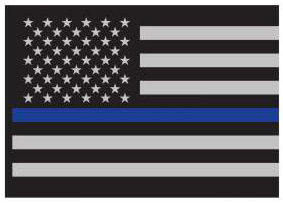 86d2664dacc Thin Blue Line Flag Decal – Threat Based Threads