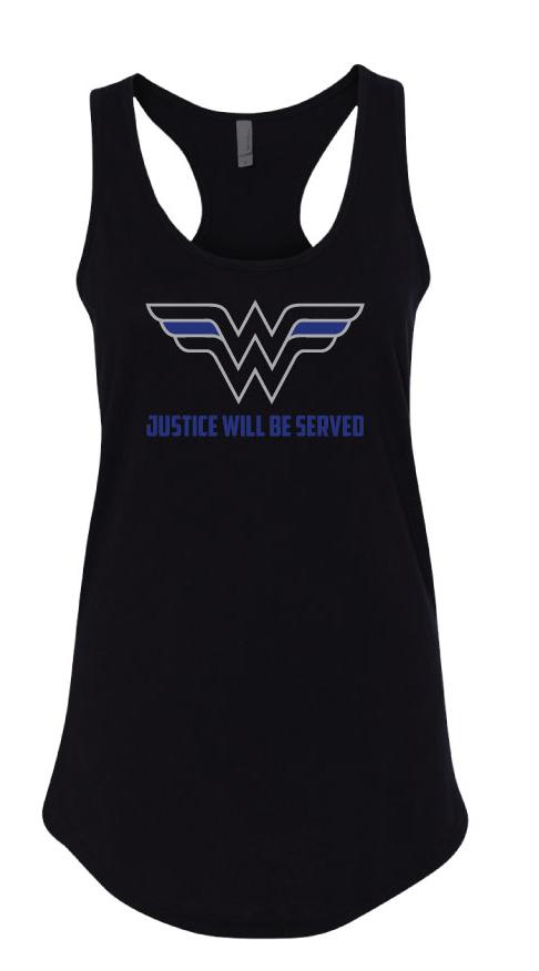 5bf3387a8a978 Wonder Woman Women s Racerback Tank – Threat Based Threads